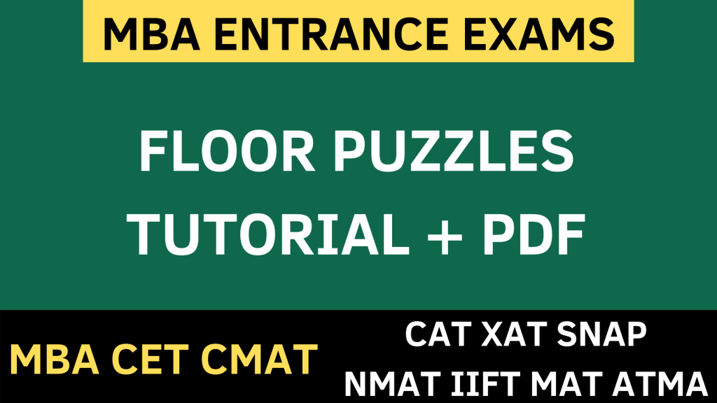 FLOOR PUZZLES logical reasoning uot mba