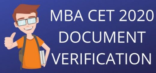 MBA CET 2020 DOCUMENTS