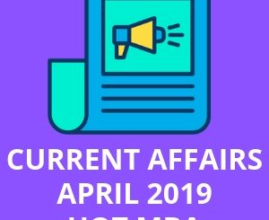 CURRENT AFFAIRS APRIL 2019