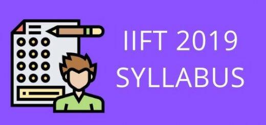 IIFT SYLLABUS 2019