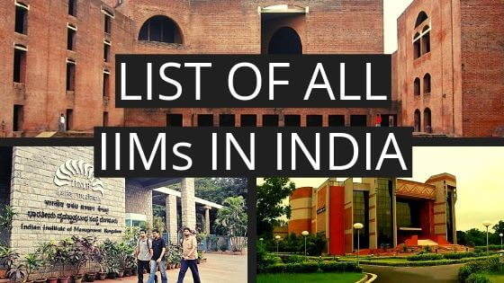 LIST OF IIM COLLEGES IN INDIA