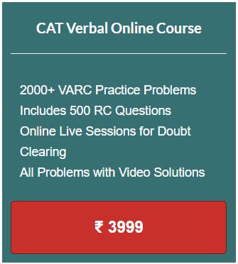 CAT Online Coaching VA RC