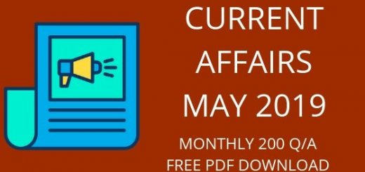 CURRENT AFFAIRS MAY 2019