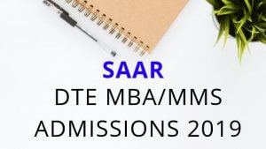 SAAR Application – DTE MBA/MMS Admission 2019