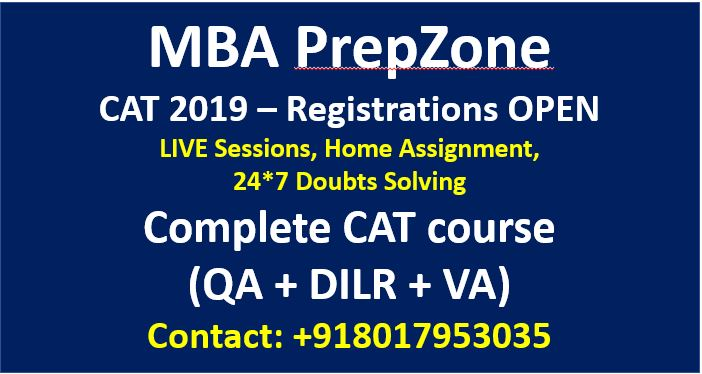 ONLINE CAT COACHING WITH MBA PREPZONE
