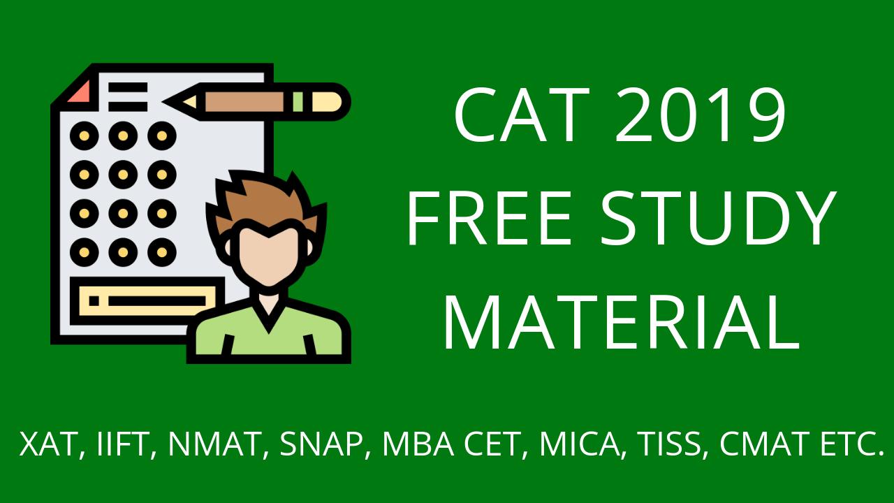 cat 2019 free study material 1