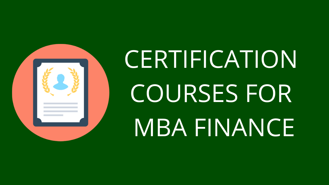 CERTIFICATION COURSES FOR MBA Finance hd