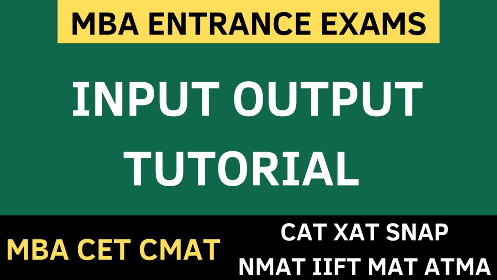 input output uot mba