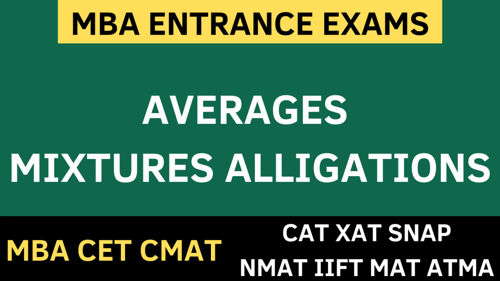 Averages mixtures allegations uot mba