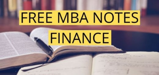 FINANCE NOTES FREE PDF