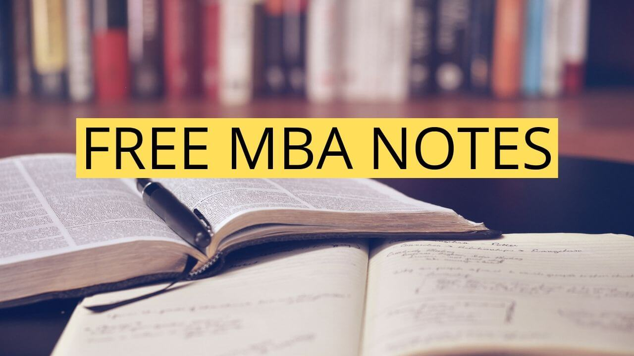 FREE MBA STUDY MATERIAL