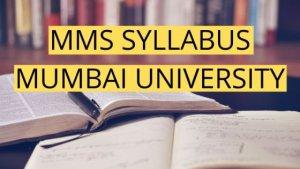 MMS Syllabus Mumbai University 2019 + PDF