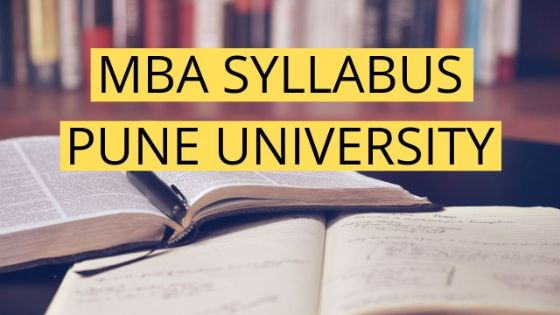 PUNE UNIVERSITY MBA SYLLABUS 2019