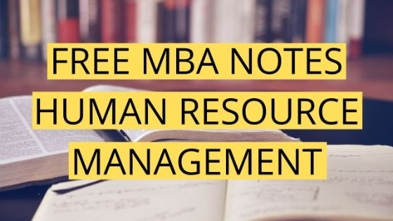 Photo of MBA HRM Notes 2020 | Free PDF Download – UOT MBA