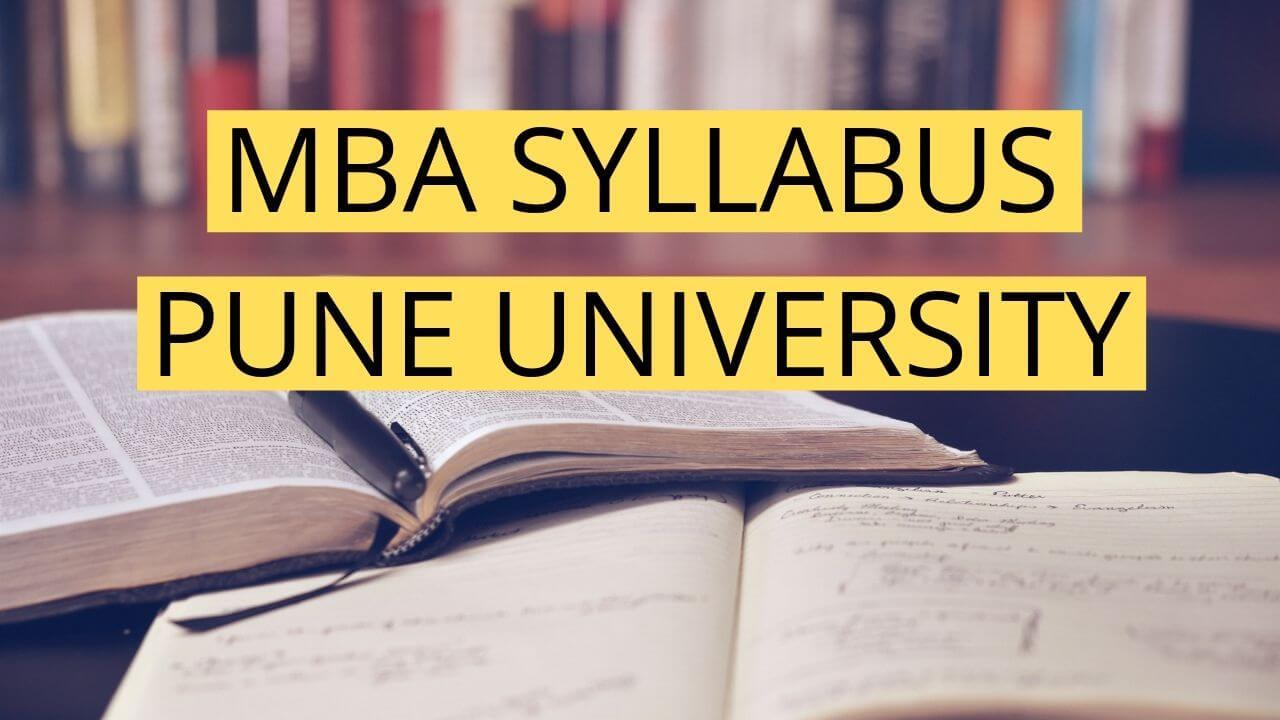 mba syllabus pune university