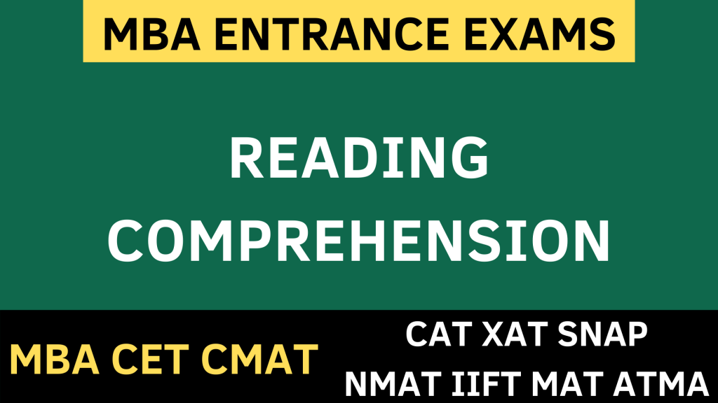 reading comprehension uot mba