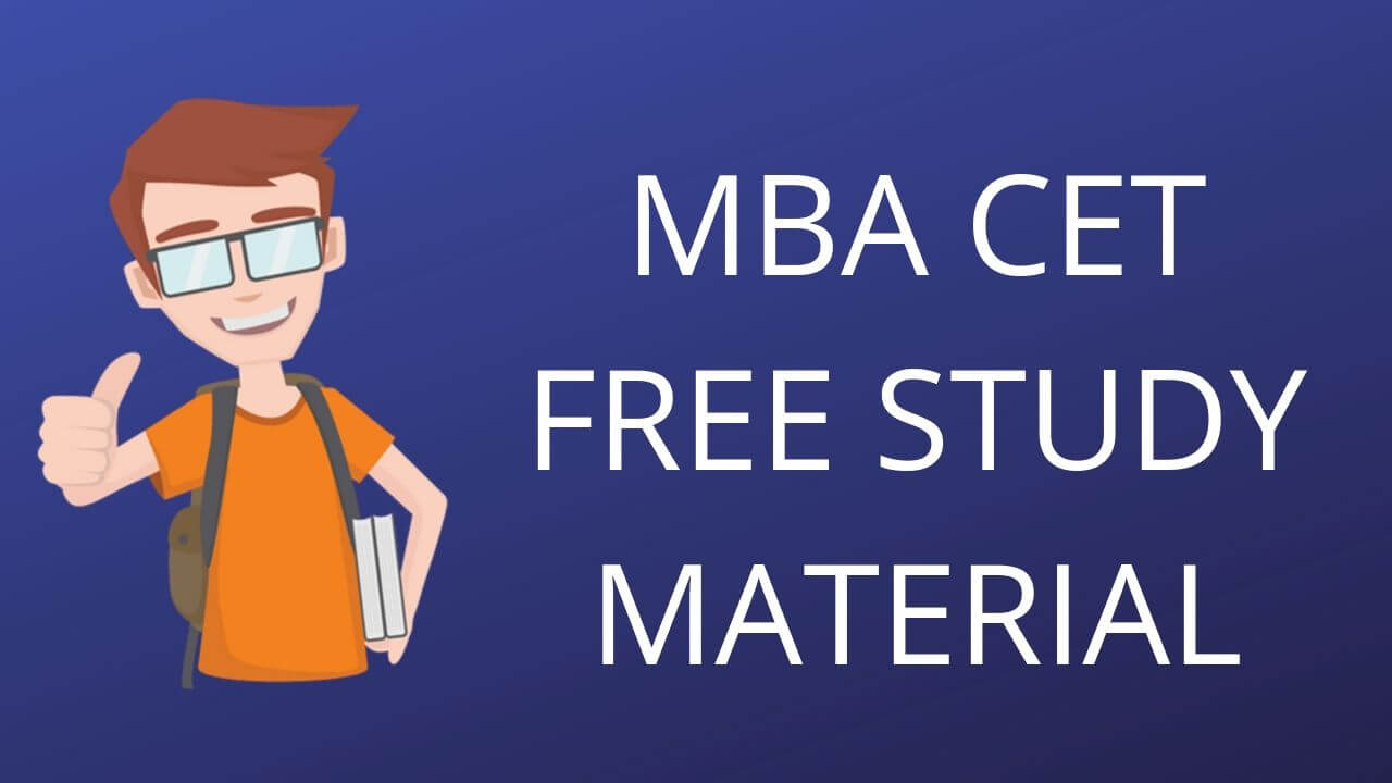 MBA CET STUDY MATERIAL