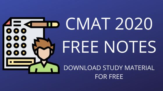 FREE STUDY MATERIAL FOR CMAT EXAM