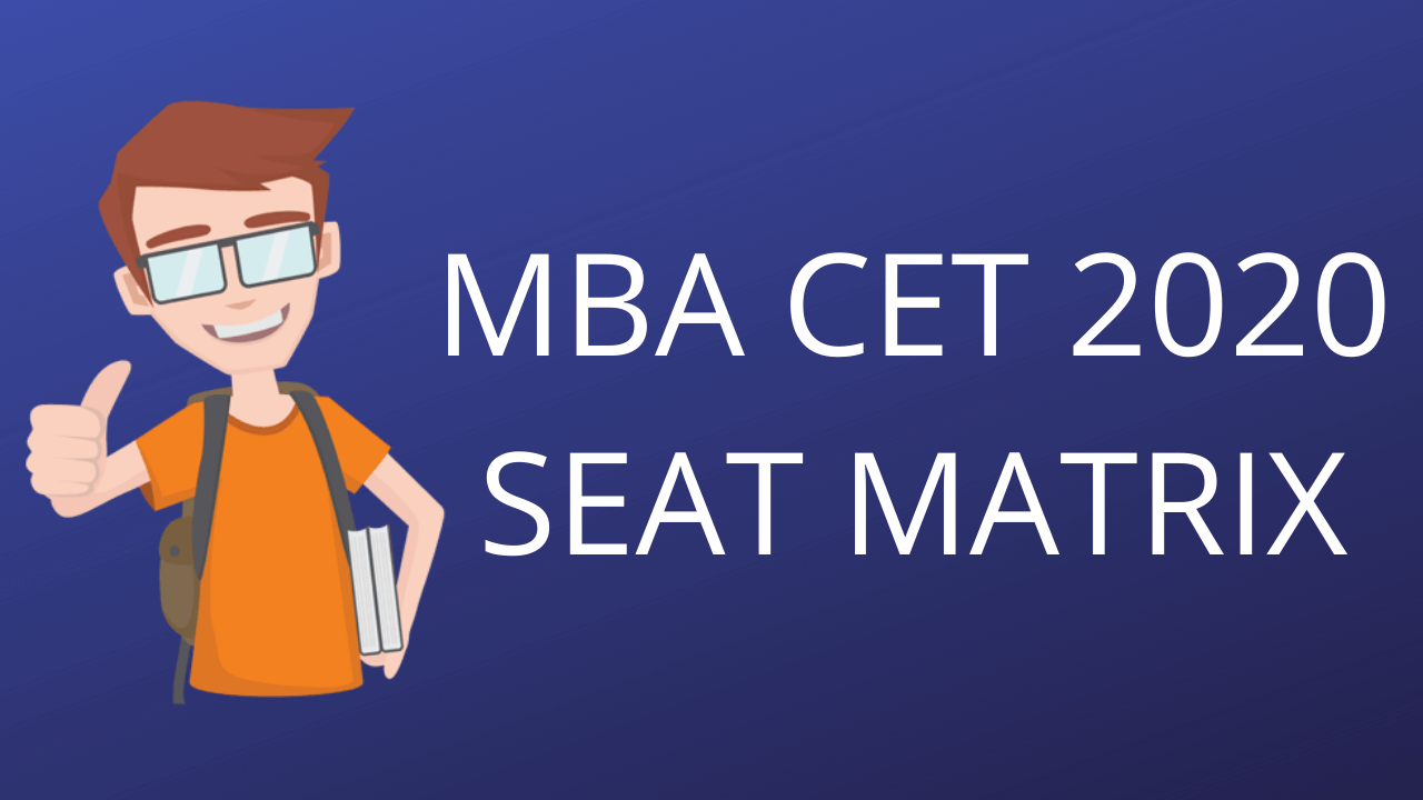 MBA CET SEAT MATRIX