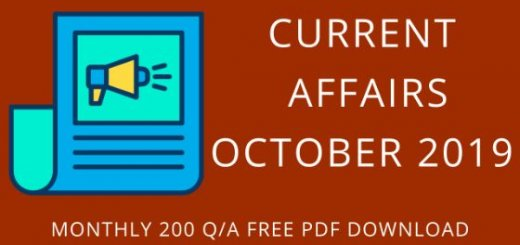 OCTOBER 2019 CURRENT AFFAIRS UOT MBA