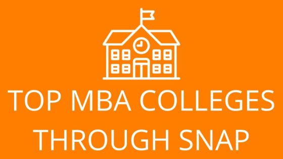 mba colleges through snap exam