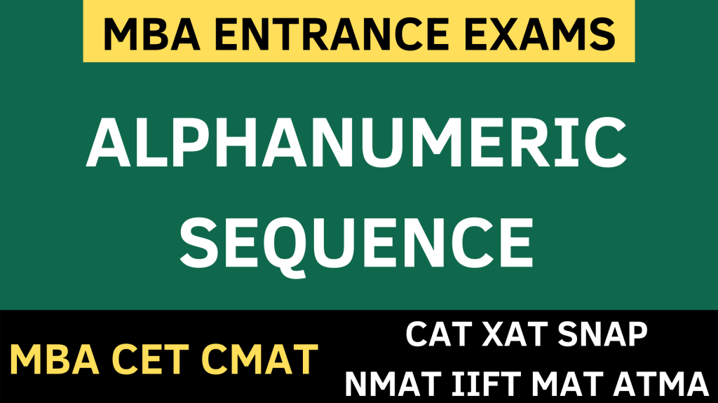 ALPHANUMERIC SEQUENCE uot mba