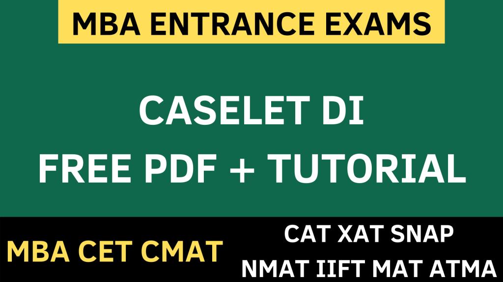 CASELET data interpretation uot mba