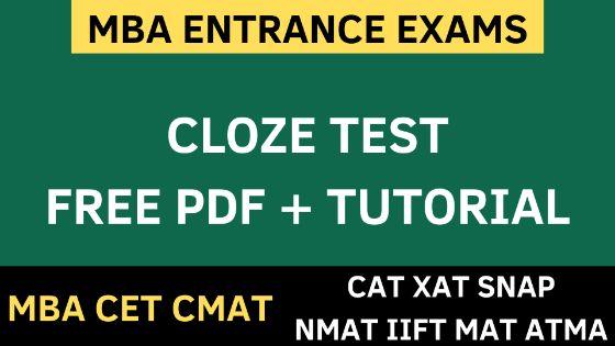 CLOZE TEST free pdf uot mba