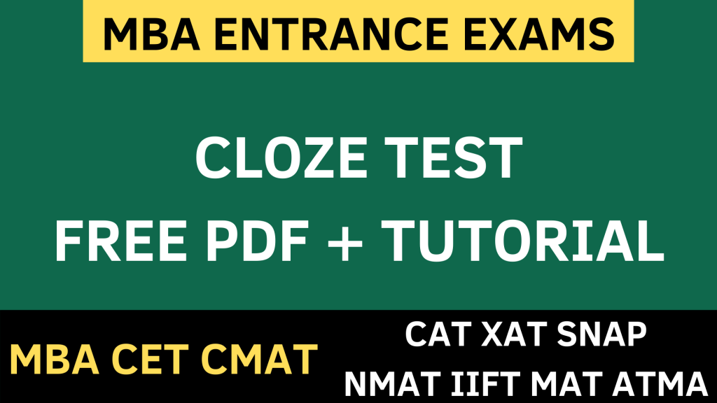 CLOZE TEST verbal ability uot mba