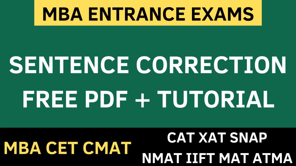 Sentence correction logical reasoning uot mba