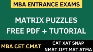 matrix based puzzles