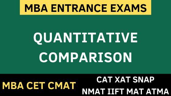 Photo of Quantitative Comparison – Quantitative Aptitude