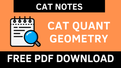 CAT QUANT GEOMETRY Notes PDF
