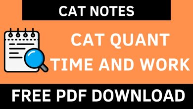 CAT Quant Time and Work