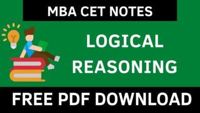 MBA CET LR Notes