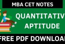 MBA CET Quant Notes