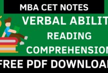 MBA CET VARC Notes