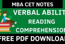MBA CET VARC Notes