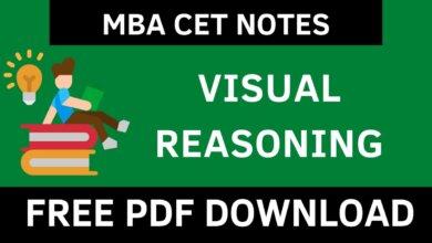 MBA CET Visual Reasoning Notes